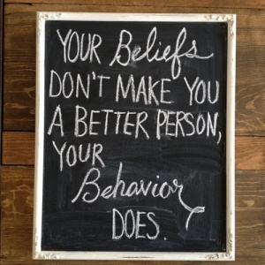 beliefs:behavior