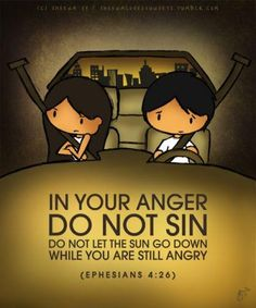 in your anger